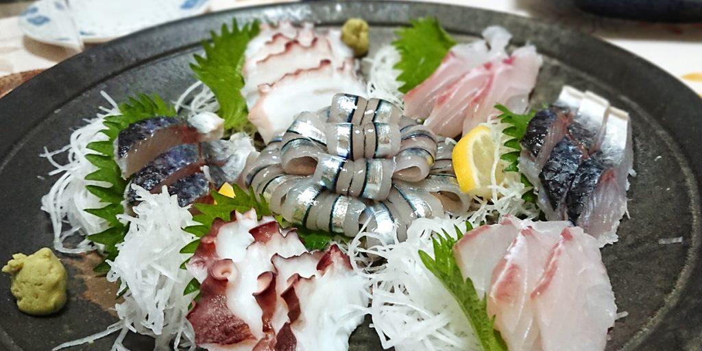 魚介の刺し身盛り